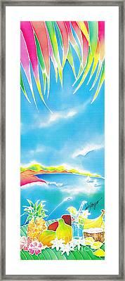 Tropical Fruits Framed Print