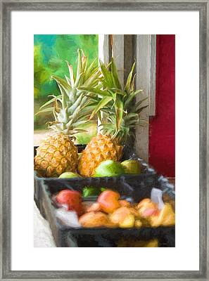 Tropical Fruitstand Framed Print
