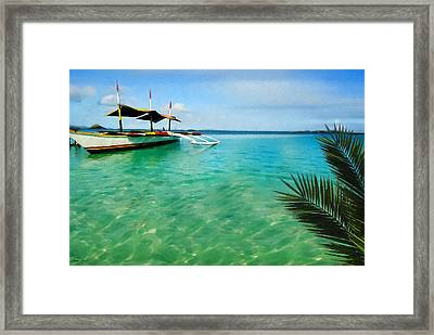 Tropical Getaway Framed Print by Lourry Legarde