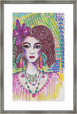 Tropical Girl Framed Print
