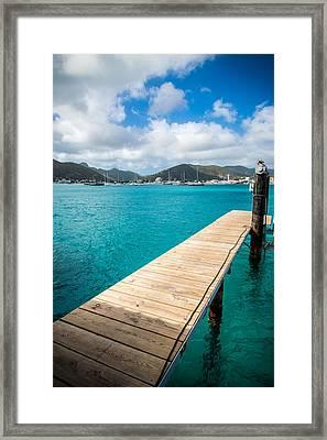 Tropical Harbor Framed Print by Kristopher Schoenleber