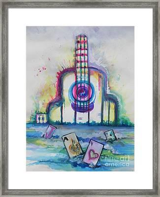 Tropical Hard Rock Cafe Framed Print by Chrisann Ellis