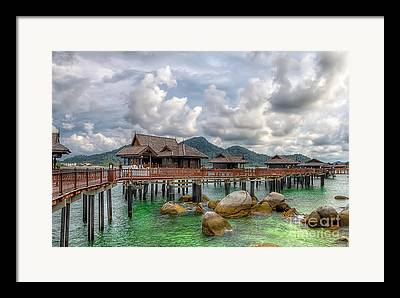 Straits Of Malacca Framed Prints