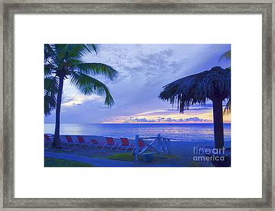 Tropical Island Framed Print by Betty LaRue