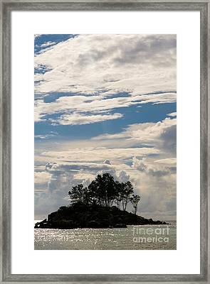 Tropical Island, Seychelles Framed Print by Tim Holt