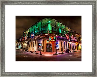 Tropical Isle In New Orleans Framed Print by David Morefield
