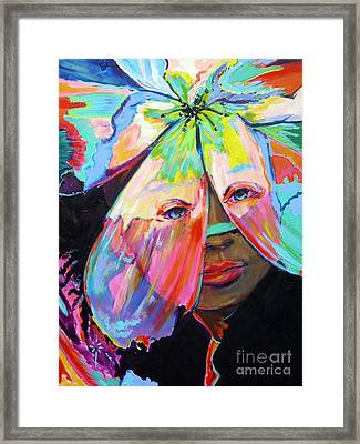 Framed Print featuring the painting Tropical by Jodie Marie Anne Richardson Traugott          aka jm-ART