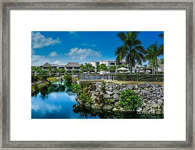 Tropical Landscape Water Way Framed Print by Gary Keesler