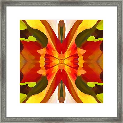 Tropical Leaf Patter 3 Framed Print by Amy Vangsgard