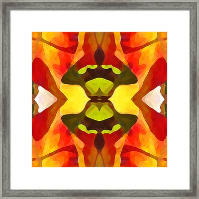 Tropical Leaf Pattern 1 Framed Print by Amy Vangsgard