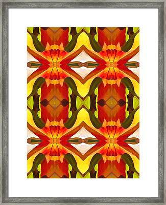 Tropical Leaf Pattern 10 Framed Print by Amy Vangsgard