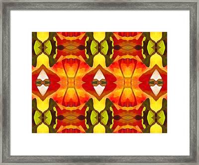 Tropical Leaf Pattern  12 Framed Print by Amy Vangsgard