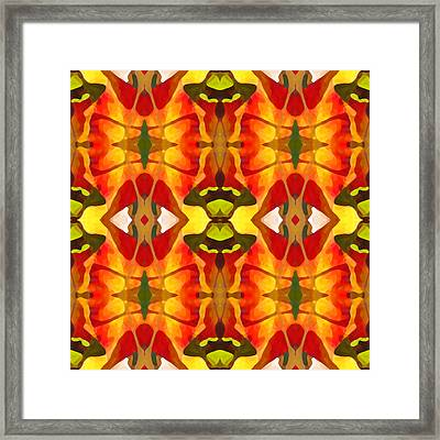 Tropical Leaf Pattern 2 Framed Print by Amy Vangsgard