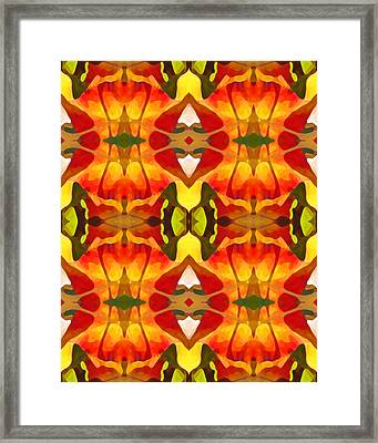 Tropical Leaf Pattern 8 Framed Print by Amy Vangsgard