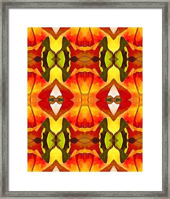 Tropical Leaf Pattern  9 Framed Print by Amy Vangsgard