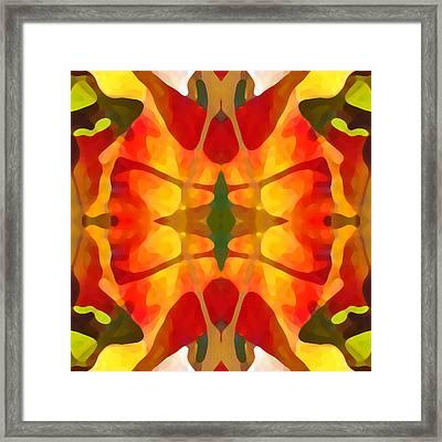 Tropical Leaf Pattern5 Framed Print by Amy Vangsgard