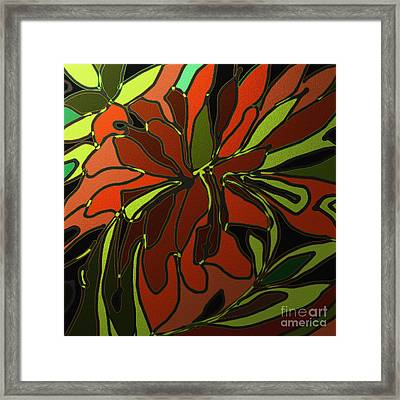 Tropical Leaves Framed Print by Shesh Tantry