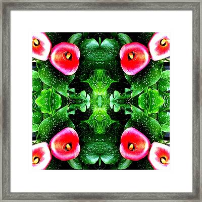 Tropical Lush-us Abstract Framed Print by Marianne Dow