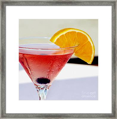 Tropical Martini Framed Print by Jon Neidert