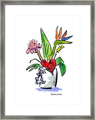 Tropical Mix Framed Print