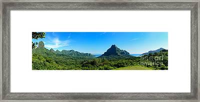 Tropical Moorea Panorama Framed Print