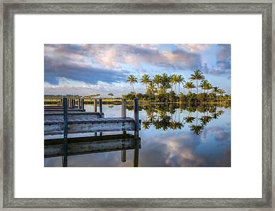 Tropical Morning Framed Print by Debra and Dave Vanderlaan