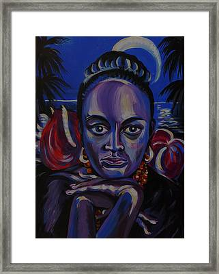 Tropical Night Framed Print by Anna  Duyunova