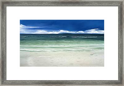 Tropical Ocean Framed Print