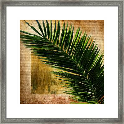 Tropical Palm Framed Print by Lourry Legarde