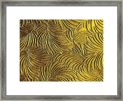 Tropical Palms - Metallic Gold Framed Print by Artistic Mystic