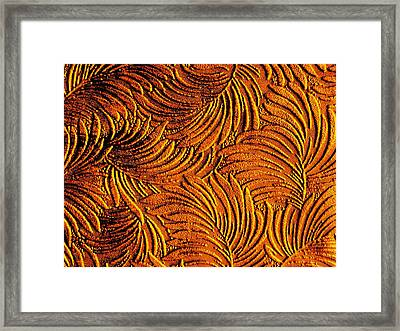 Tropical Palms - Metallic Copper Bronze Gold Framed Print by Artistic Mystic