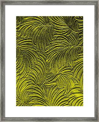 Tropical Palms - Peridot Green And Metallic Gold Framed Print by Artistic Mystic