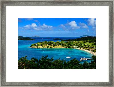 Framed Print featuring the photograph Tropical Paradise In The Virgin Islands by Greg Norrell