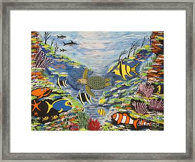 Tropical Paradise Framed Print by Jeffrey Koss