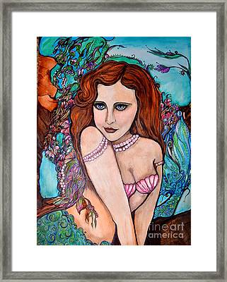 Tropical Paradise Mermaid Framed Print by Valarie Pacheco