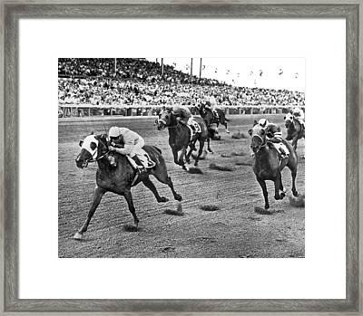 Tropical Park Horse Race Framed Print