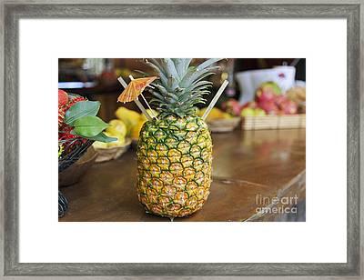 Tropical Pineapple Drink Framed Print by Brandon Tabiolo