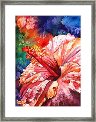 Tropical Pink Hibiscus Framed Print