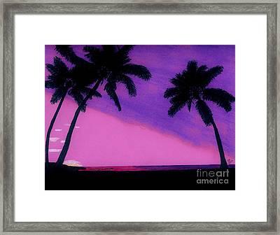 Tropical Pink Sunset Framed Print