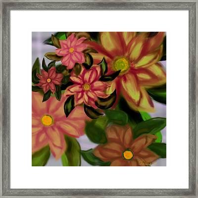 Tropical Plaid Framed Print by Christine Fournier