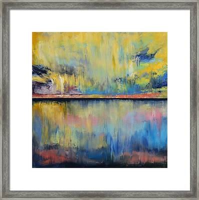 Tropical Rain Framed Print by Michael Creese