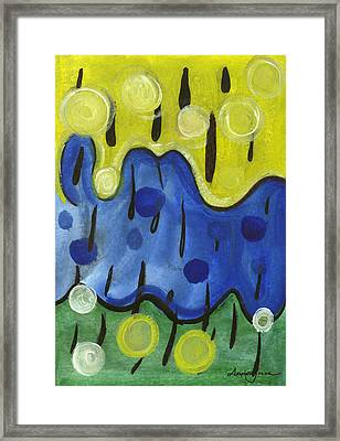 Framed Print featuring the painting Tropical Rain by Stephen Lucas