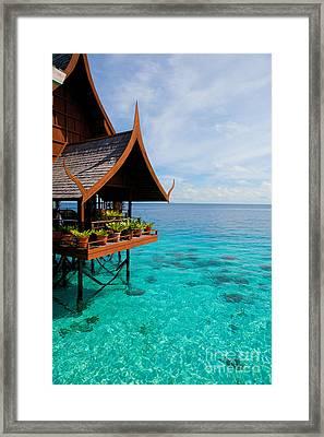 Tropical Resort Framed Print