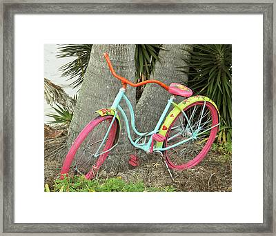 Framed Print featuring the photograph Tropical Ride by Rosemary Aubut