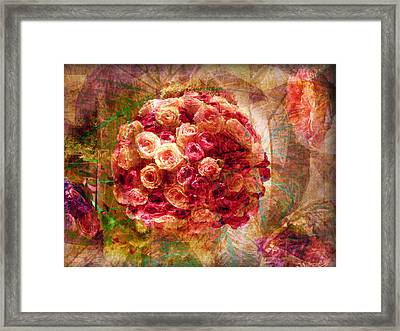 English Rose Bouquet Framed Print