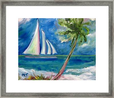 Tropical Sails Framed Print by Patricia Taylor