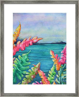 Tropical Scene Framed Print by Chrisann Ellis
