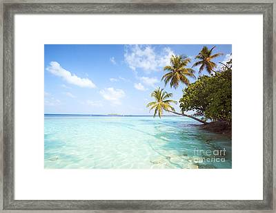 Tropical Sea In The Maldives - Indian Ocean Framed Print