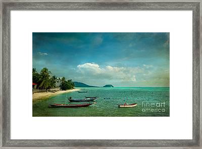 Tropical Seas Framed Print by Adrian Evans