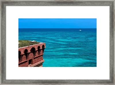 Tropical Seas Off Fort Jefferson Framed Print